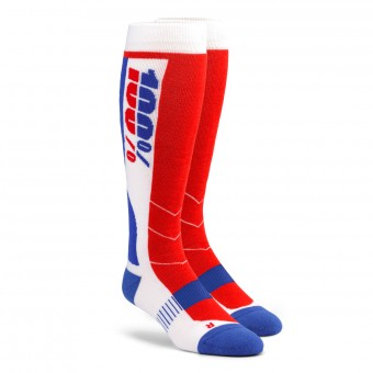 Calzini Cross 100% Socks Hi-Side Performance Blu Rosso