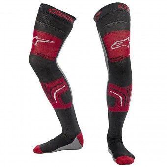 Calzini Cross Alpinestars Knee Brace Socks Red Black