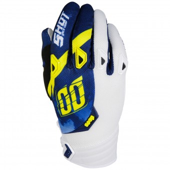 Guanti Cross SHOT Devo Squad Blue Yellow White
