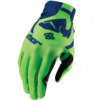 Guanti Cross Thor Void Plus Gasket Navy Green