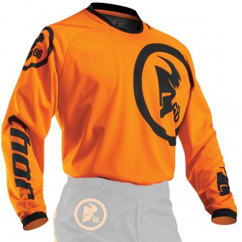 Maglia Cross Thor Phase Gasket Flo Orange Black