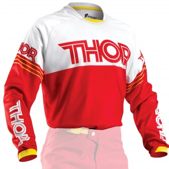Maglia Cross Thor Phase Hyperion Red Bambino