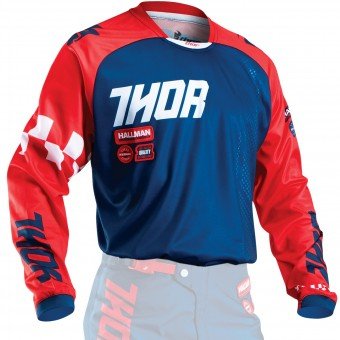 Maglia Cross Thor Phase Ramble Navy Red Bambino