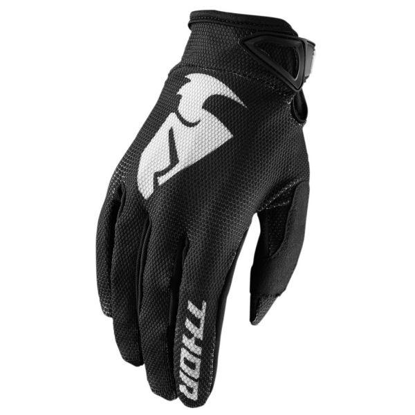 Guanti Cross Thor Sector Glove Black Bambino