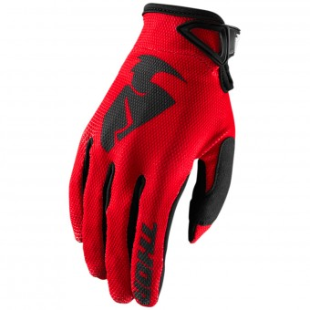 Guanti Cross Thor Sector Glove Red Bambino