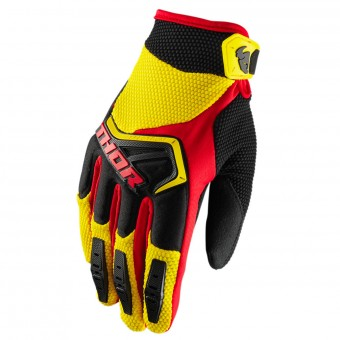 Guanti Cross Thor Spectrum Yellow Black Red