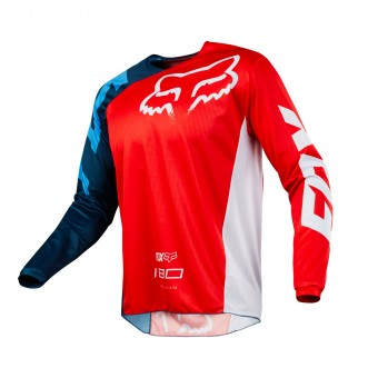 Maglia Cross FOX 180 Race Red White 003