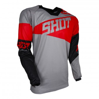 Maglia Cross SHOT Contact Infinite Grey Red