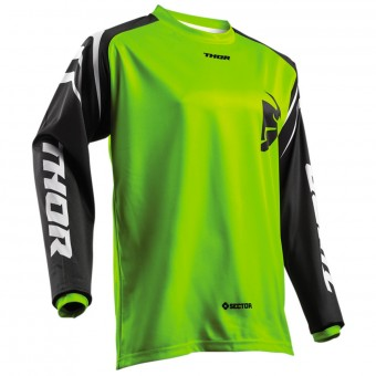 Maglia Cross Thor Sector Zones Lime Bambino