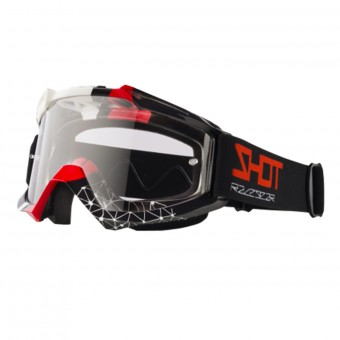 Maschera Cross SHOT Assault Beyound Black Red