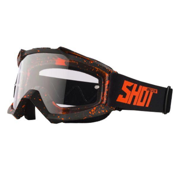 Maschera Cross SHOT Assault Drop Neon Orange Matt