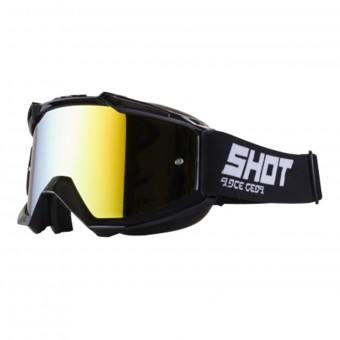Maschera Cross SHOT Iris Black Iridium Gold