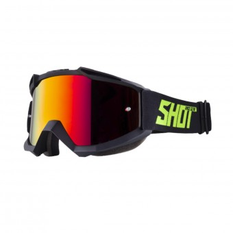 Maschera Cross SHOT Iris Black Neon Yellow Matt Iridium Red