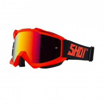 Maschera Cross SHOT Iris Neon Orange Matt Iridium Red