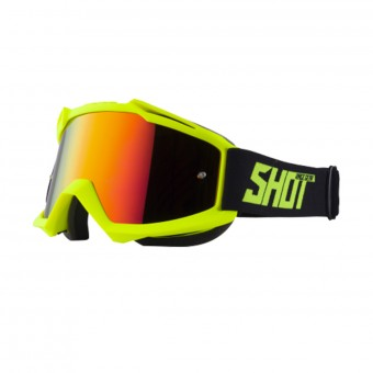 Maschera Cross SHOT Iris Neon Yellow Matt Iridium Red