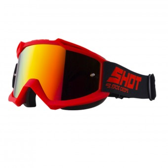 Maschera Cross SHOT Iris Red Iridium Red