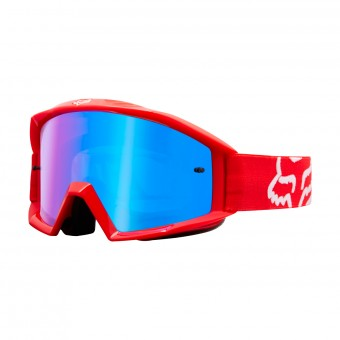 Maschera Cross FOX Main Race Red Iridium Blue