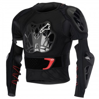 Pettorina Alpinestars Bionic Jacket Black Red Bambino