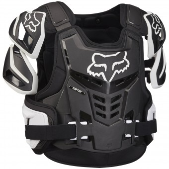 Pettorina FOX Raptor Vest Black White 018