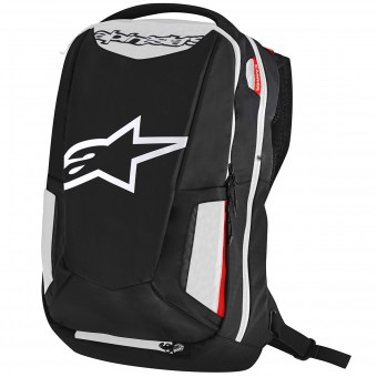 Zaino Moto Alpinestars City Hunter Backpack Black White Red