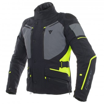 Giacche moto Dainese Carve Master 2 Gore-Tex Black Ebony Fluo Yellow