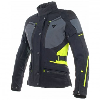 Giacche moto Dainese Carve Master 2 Lady Gore-Tex Black Ebony Fluo Yellow