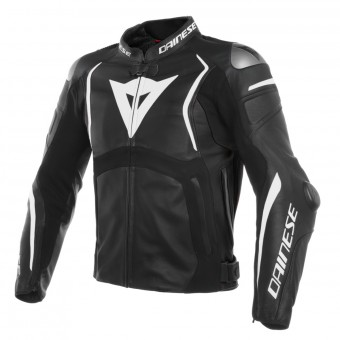 Giacche moto Dainese Mugello Leather Black White