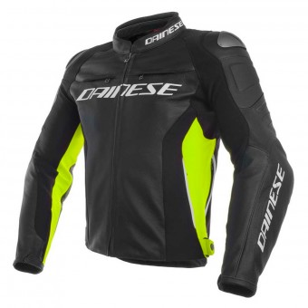 Giacche moto Dainese Racing 3 Black Yellow Fluo