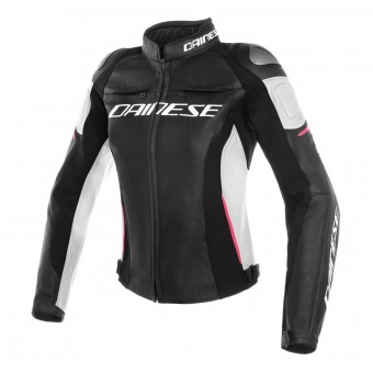 Giacche moto Dainese Racing 3 Lady Black White Fuchsia