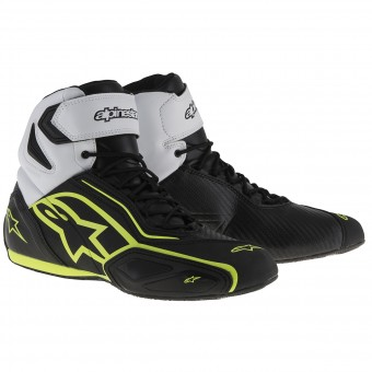 Sneakers Moto Alpinestars Faster 2 Waterproof Black White Yellow Fluo