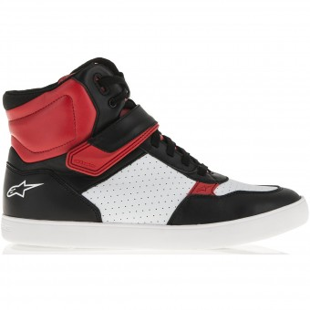 Sneakers Moto Alpinestars Lunar Black White Red