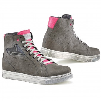 Sneakers Moto TCX Street Ace Lady Air Grey Fuschia