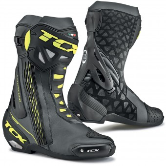Stivali Moto TCX RT-Race Black Yellow Fluo