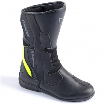 Stivali Moto Dainese Tempest Lady D-Waterproof Black Yellow Fluo