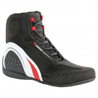 Scarpe Moto Dainese Motorshoe Air Black White Red