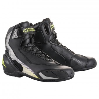 Scarpe Moto Alpinestars SP-1 V2 Black Silver Yellow Fluo