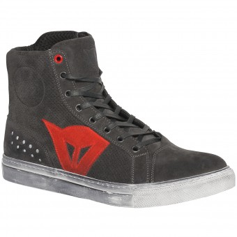 Scarpe Moto Dainese Street Biker Air Carbon Red