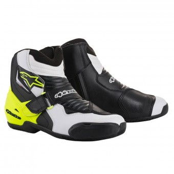 Stivaletti Alpinestars SMX-1 R Black White Yellow Fluo