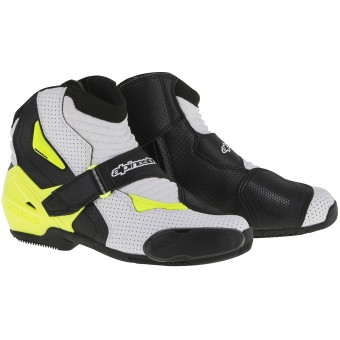 Stivaletti Alpinestars SMX-1 R Vented Black White Yellow Fluo
