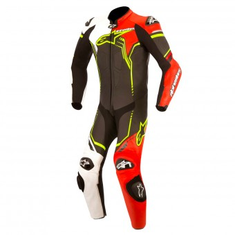 Tute Moto in pelle Alpinestars Young GP Plus Black White Red Fluo Yellow