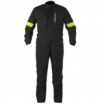 Tute Antipioggia Alpinestars Hurricane Rain Suit Black Yellow Fluo