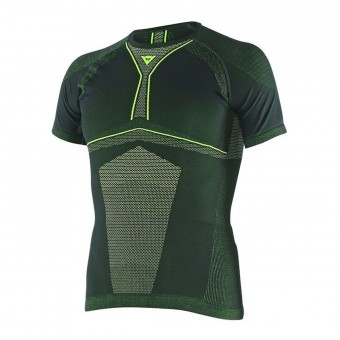Maglia Intima Riscaldata Dainese D-Core Dry Tee SS Black Yellow