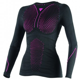 Maglia Intima Riscaldata Dainese D-Core Thermo Tee LS Lady Black Pink
