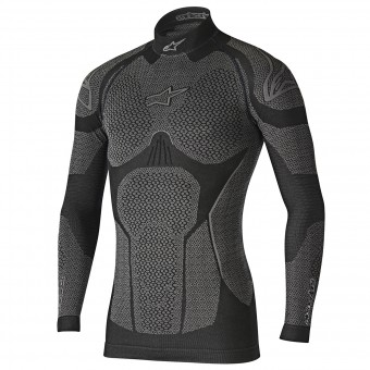 Maglia Intima Riscaldata Alpinestars Ride Tech Top LS Winter Black Grey