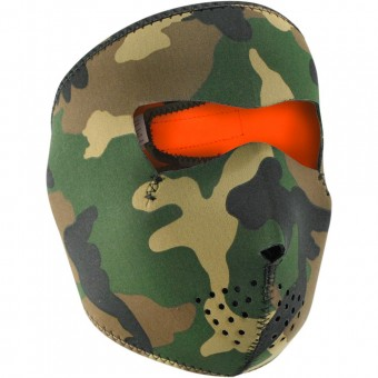 Collare invernale Zanheadgear Woodland Camo Reversible Orange