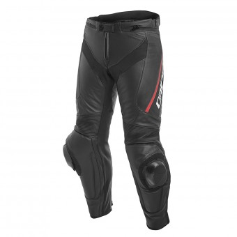 Pantalone moto Dainese Delta 3 Black Fluo Red