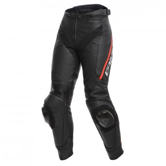 Pantalone moto Dainese Delta 3 Lady Black Fluo Red