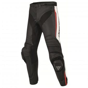 Pantalone moto Dainese Misano Perforated Black White Red Fluo