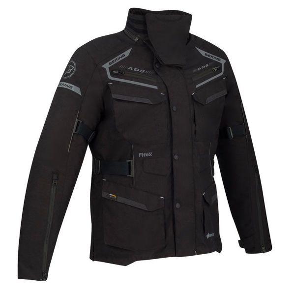 Giacche Moto Lunghe Bering Minsk Gore-Tex Black Grey