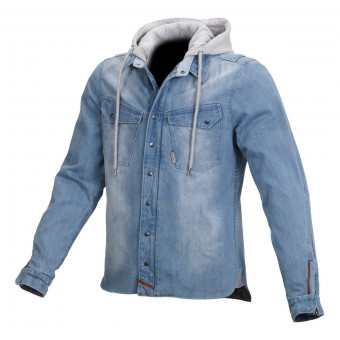 Giacche Moto Lunghe Macna Westcoast Denim Light Blue Grey